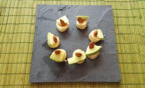 Банан, авокадо и бадем – красива веган закуска