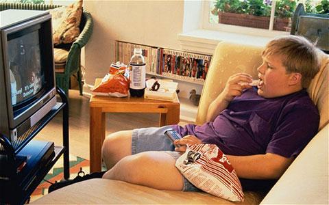 не ям пред телевизора