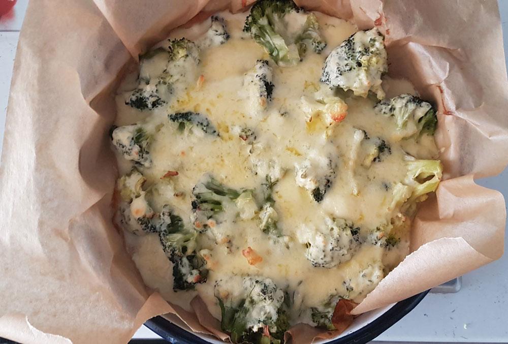 Броколи на фурна със сирене