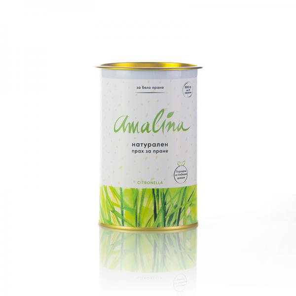 амалина натурален прах за бяло пране цитронела