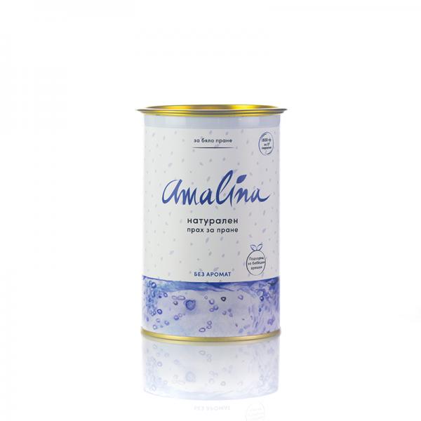 амалина натурален прах за бяло пране без аромат