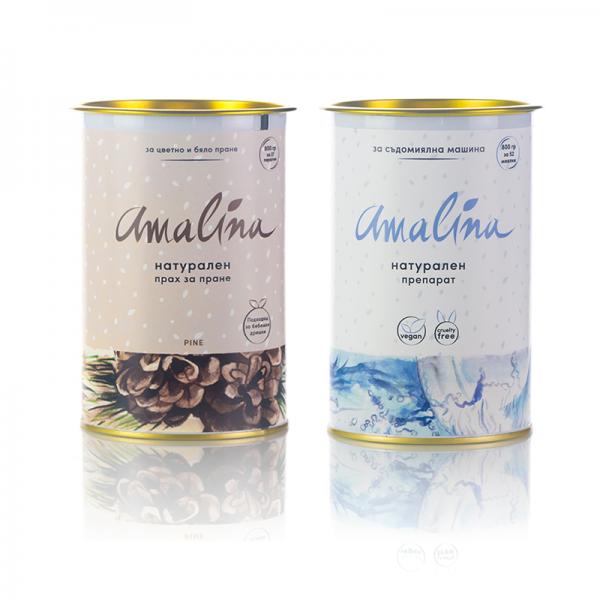 амалина-пакет прах за пране борпюлс препарат за съдомиялна