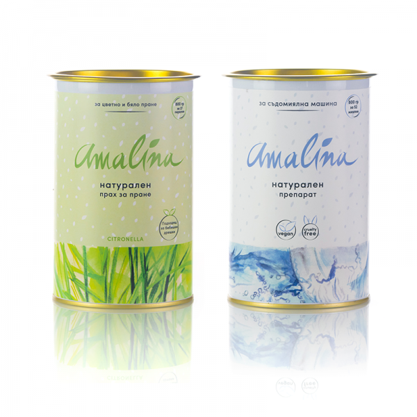 амалина-пакет прах за пране цитронела пюлс препарат за съдомиялна
