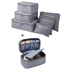 Пакет 6 органайзера за багаж + органайзер бельо